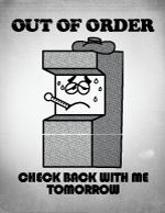 Wreck-It Ralph Out of Order Sign